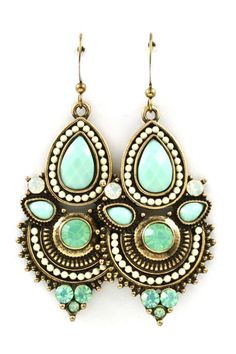 Boho Iridescent Mint Earrings ♥