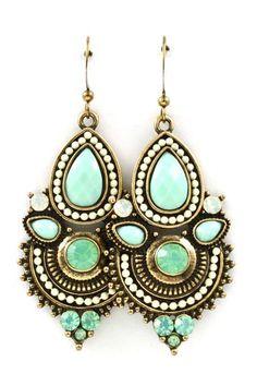 Boho Iridescent Mint Earrings ♥