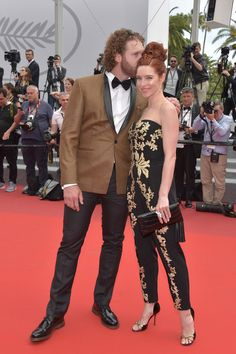 """T.J. Miller and Kate Gorney attend the """"Wonderstruck"""" screening during the 70th annual Cannes Film Festival at Palais des Festivals on May 18, 2017 in Cannes, France."""