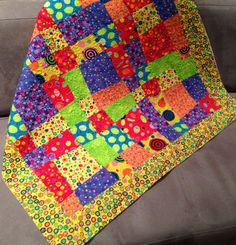 Try this simple Crazy Nine Patch quilt pattern for a baby quilt that can be put together in a weekend.