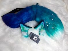 Cosplay Ocean Fox Ears and Tail Furry Wolf Ears And Tail, Wolf Tail, Fox Ears, Neko Ears, Animal Tails, Cat Valentine, Kittens Playing, Kawaii Clothes, Animes Wallpapers