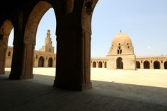 This photo from Cairo, Delta is titled 'Mosque Ibn Tulun'. Abbasid Caliphate, Ancient Mesopotamia, Baghdad, Cairo, Mosque, Islamic, Egypt, Taj Mahal, Old Things