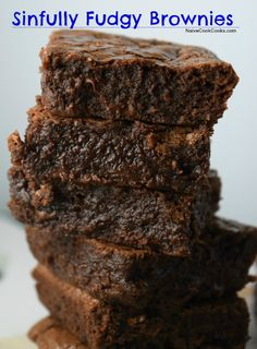 Sinfully Fudgy Brownies (These brownies are super rich, chocolatey with a shining crackly top and super fudgy center!! Best brownies you can make in under an hour with ingredients you might already have in your pantry!) NaiveCookCooks.com