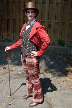 Steampunk Captain Spauding in civilian garb. Coat is from Simplicity 2525.