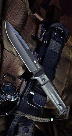 Kizlyar KK0208 Delta D2 Russian Made Titanium Tactical Fixed Knife Blade