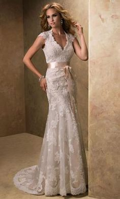 CC's Boutique offers the Maggie Sottero wedding dress Bronwyn at a great price. Call today to verify our pricing and availability for the Maggie Sottero Bronwyn. Slim Wedding Dresses, Ivory Lace Wedding Dress, Open Back Wedding Dress, Maggie Sottero Wedding Dresses, Wedding Dress Train, Dresses Short, Luxury Wedding Dress, Bridal Dresses, Wedding Gowns