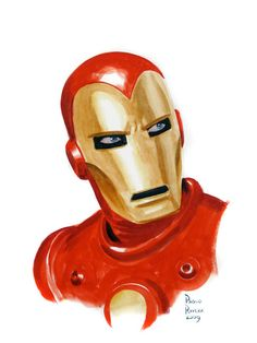 Great old school Iron Man by Paolo Rivera.