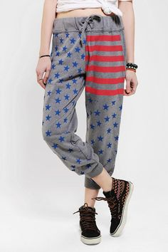Out From Under Americana Sweatpant - Urban Outfitters Dope Fashion, Only Fashion, Girl Outfits, Fashion Outfits, American Girl Clothes, Swagg, Pretty Outfits, Urban Outfitters, Latest Trends