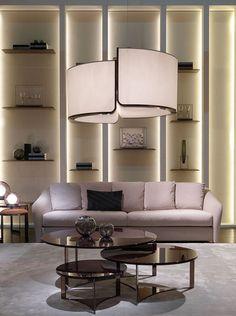 Fendi Casa - Tiffany sofa and Tolomeo coffee tables #Fendi #LuxuryLivingGroup