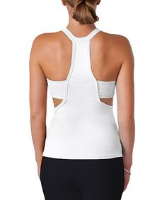 Loving this White Nora Tank on #zulily! #zulilyfinds