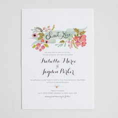 Hand Painted wedding invitations from Wedding Chicks Shop. See more sweet and lovely invites here. http://shop.weddingchicks.com/audrey-invitation-suite/