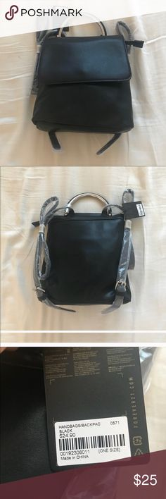NWT faux leather bag NWT Small Black Bag from forever 21 Forever 21 Bags