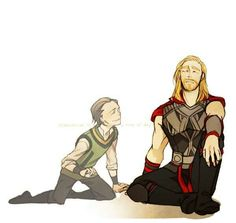 Thor and little brother Loki