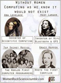 Women instrumental in the development of computer technology.