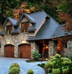 Detached 2 Story Garage Design Ideas, Pictures, Remodel and Decor - Dream House Garage Design, Exterior Design, House Design, Exterior Siding, Patio Design, Style At Home, Solar Shingles, Traditional Exterior, House Goals