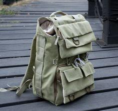 Canvas Camera Backpack