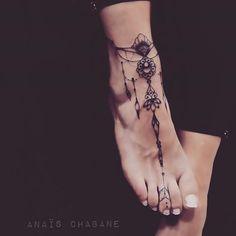 Tattoo Pied, Dessin Tattoo, Mandala Tattoo, Henna Tattoos, Lace Tattoo, Tattoo You, Girl Tattoos, Toe Tattoos, Anklet Tattoos