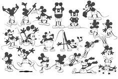 Mickey mouse model sheet