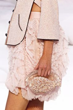 Chanel's shell inspired clutch with the beautiful skirt!