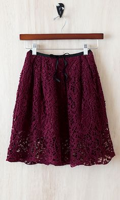 Lace, favorite color...amazing! (http://www.shopconversationpieces.com/simply-unforgettable-lace-skirt-burgundy/)