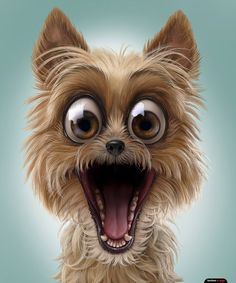 Funny pins, dog expressions, animals and pets, cute animals, dog illustrati Cartoon Kunst, Cartoon Art, Funny Animal Pictures, Cute Pictures, Cute Baby Animals, Funny Animals, Animals Dog, Puppy Clipart, Dog Expressions