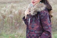 Aztec Coat Fur Hood