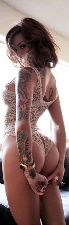 Very sexy #sexy #dearsweetness #lingerie #bum #tattoo