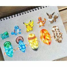 PokeMon The Evie coiffure is superb Amazing Drawings, Cool Drawings, Amazing Art, Awesome, App Drawings, Art Sketches, Chibi Kawaii, Social Media Art, Cute Disney Drawings