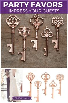 Make your wedding even more unique and memorable with these gorgeous vintage key bottle openers! This is likely a gift family and friends have not gotten anywhere else, and they will love the functionality of it. It's something they will keep and remember you by for years to come! Shop today and get FREE SHIPPING.  | Rustic Wedding Favors for Guests | Simple DIY Party Decorations Souvenirs | Outdoor Backyard Ideas On A Budget | Wedding Shower + Reception