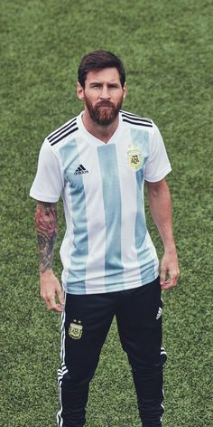 Lionel Messi in the adidas 2018 Argentina home jersey Messi News, Messi 10, Old Boys, Fc Barcelona Wallpapers, Lionel Messi Wallpapers, Messi Argentina, Argentina National Team, Messi Photos, Leonel Messi