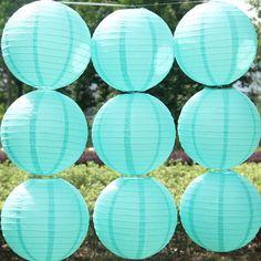 10 pcs/lote 12 '' ( 30 cm ) Tiffany bleu rondes papier chinois lanterne lampe de papier décoration de mariage lanterne de mariage dans Fleurs décoratives et couronnes de Maison & Jardin sur AliExpress.com | Alibaba Group