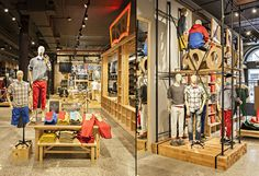 WOODEN STORE INTERIORS! Levi's store by MBH Architects, New York store design