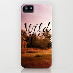 wild and free: meadow iPhone & iPod Case by Sylvia Cook Photography - $35.00 #iphonecase #typography