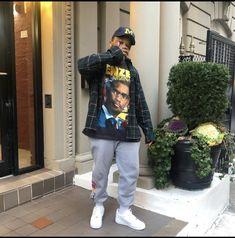 Street Style Outfits Men, Black Men Street Fashion, Stylish Mens Outfits, Dope Fashion, Fashion Outfits, Looks Hip Hop, College Hoodies, Mens Clothing Styles, Streetwear Fashion