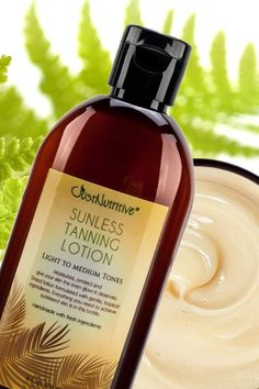 Sunless Tanning Lotion - Light to Medium tones is made with natures finest ingredients to provide the ultimate natural tan, while nourishing your skin with the nutrients is craves!