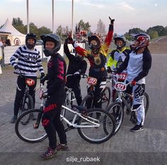 This photo  #Repost @silje_rubaek Had another great day racing in Sweden with these great girls Last race of this season is now done and prep for 2018 can start Thanks to @waltariskan for the great photo. #dwbtoftshit #bmx #bmxlife #fun #cruiser #roskildebmx #2017seasonisdone #cantwaitfor2018