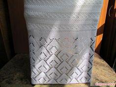 . Ажурная белая юбка - Машинное вязание - Страна Мам