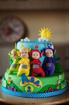 Teletubbies - Cake by SweetWithIvane Teletubbies Birthday Cake, Teletubbies Cake, Cupcakes, Cupcake Cakes, Novelty Cakes, Cake Decorating Tutorials, Occasion Cakes, Cake Tutorial, Cake Creations