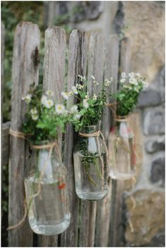 Mason jar vases | Image Kristyn Hogan Photography, styling Cedarwood Weddings