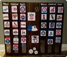 Cute Idea To Keep Track Of Standings Mlb StandingsBaseball TeamsSpring ProjectsKids BedroomCute