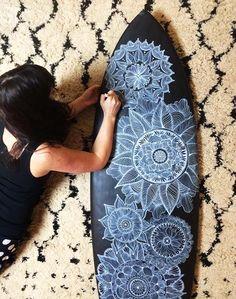 alisaburke- doodled surf board