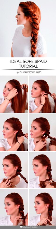 Inspiring Ideas How to Style a Rope Braid for Any Occassion ★ See more: http://lovehairstyles.com/ideas-how-to-style-rope-braid/