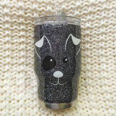 Kid's Dog Glitter Tumbler//Stainless Steel Tumbler//Puppy Cup//Personalized Custom Animal Tumbler//T Diy Tumblers, Custom Tumblers, Glitter Tumblers, Glitter Texture, Kids Tumbler, Tumbler Cups, Glitter Gel Polish, Nail Polish, Vintage Bathtub