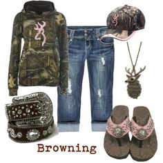 Browning I almost hate to admit that im a lil redneck but this stuff is too cute! I love camo with pink