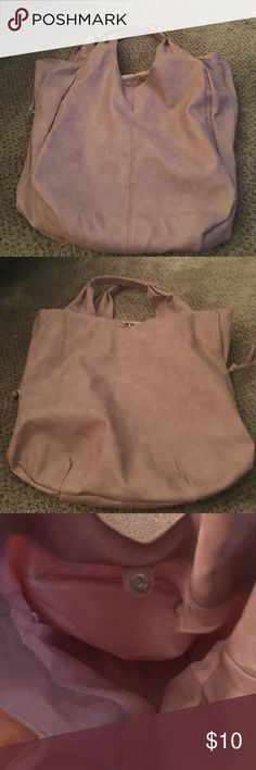 Big leather tote Pretty Pink big leather bag! Great condition Bags Totes