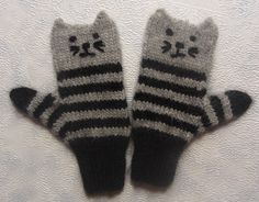 Cat mittens -for Lizzy!