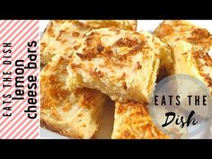 I never thought lemon and cheese will make a good combination. I twisted the recipe of the Filipino style cheese bars and boom! Cheese Bar, Cheese Dishes, Lemon Cheese, The Dish, Quick Easy Meals, Make It Yourself, Eat, Breakfast, Youtube