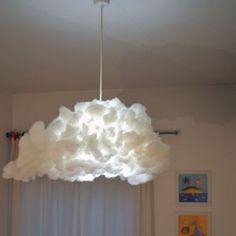 Lampadario Ikea VARMLUFT trasformato in soffice nuvola