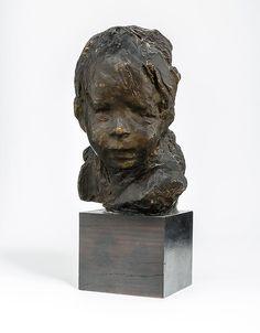 Medardo Rosso<br />Bambino ebreo <br />circa 1892 - 93 <br />dark wax over plaster <br />13 ¼ x 7 ⅛ x 6 ½ inches<br />