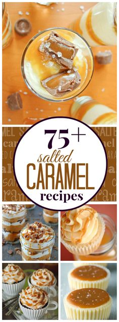 75+ Salted Caramel Desserts...thinking of a theme for my Christmas trays this year, this would work!